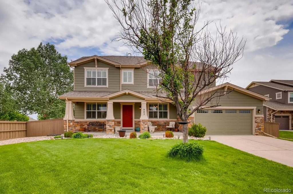 Photo of home for sale at 802 Cass Court, Castle Rock CO