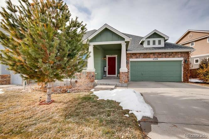 Photo of home for sale at 4328 Prairie Rose Circle, Castle Rock CO