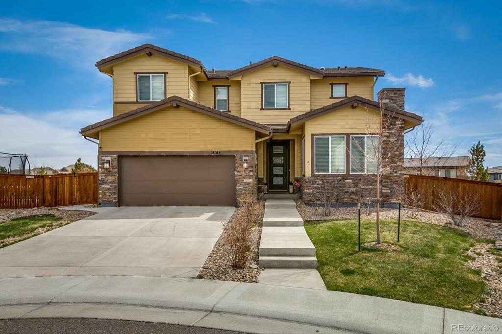 Photo of home for sale at 14018 Touchstone Street, Parker CO