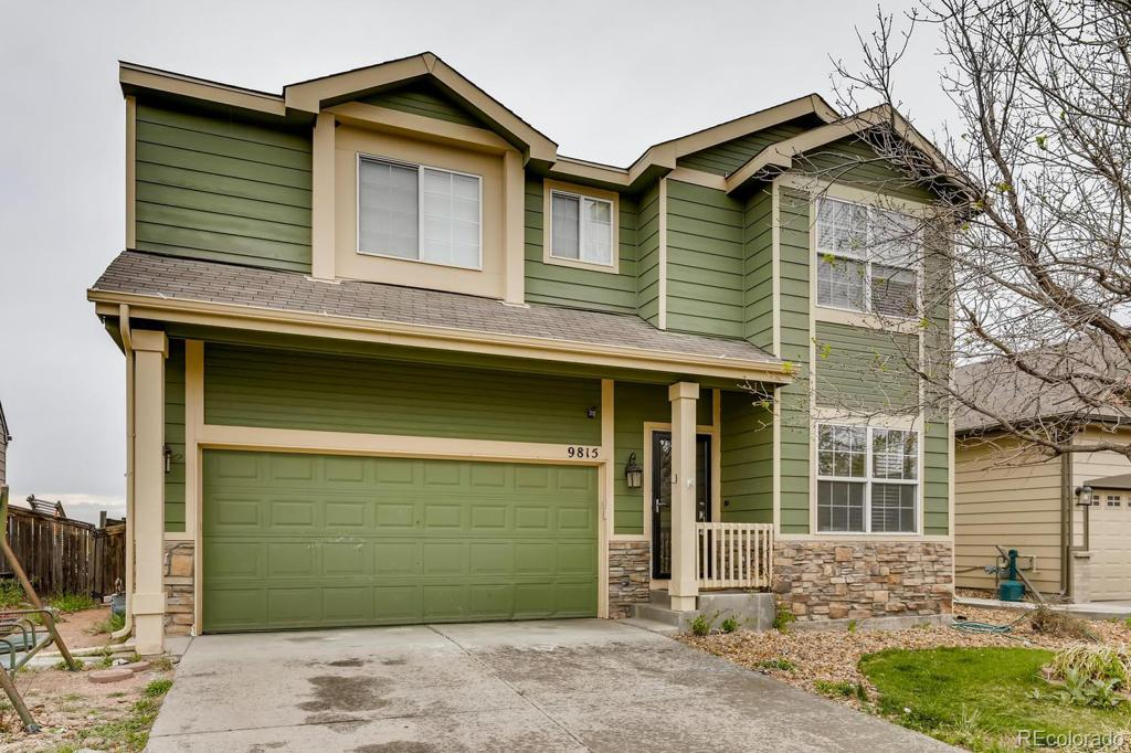 Photo of home for sale at 9815 Eagle Creek Circle, Commerce City CO