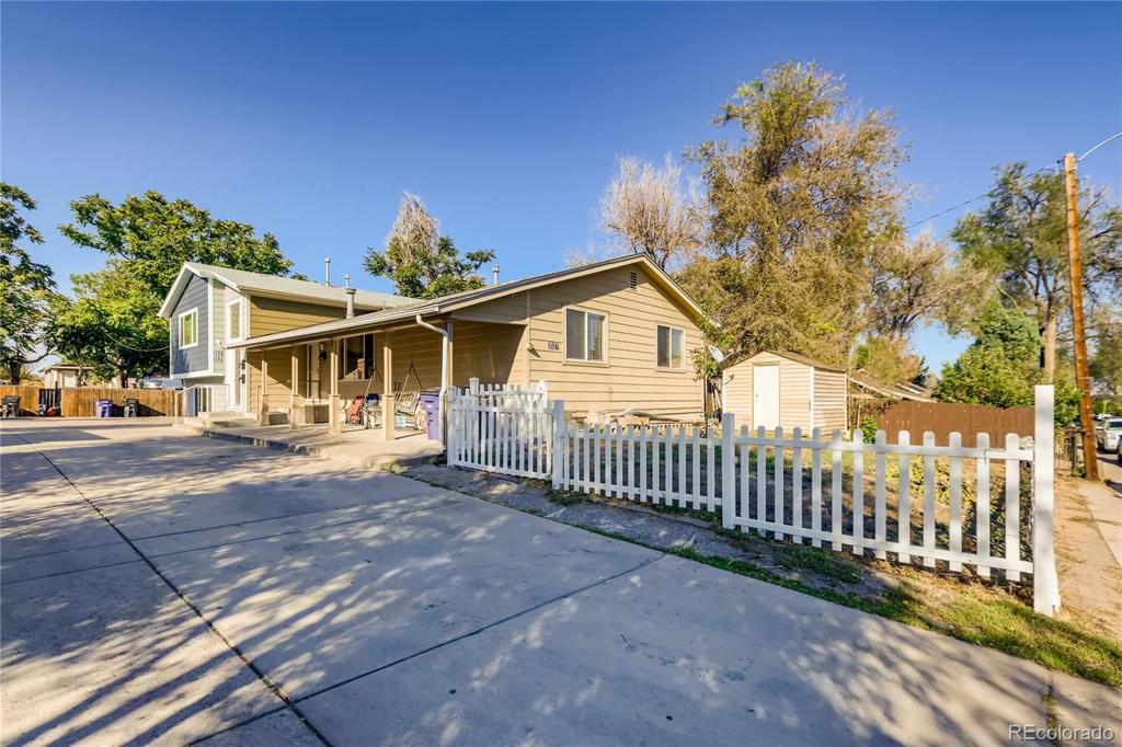 Photo of home for sale at 3527 Dakota Avenue W, Denver CO