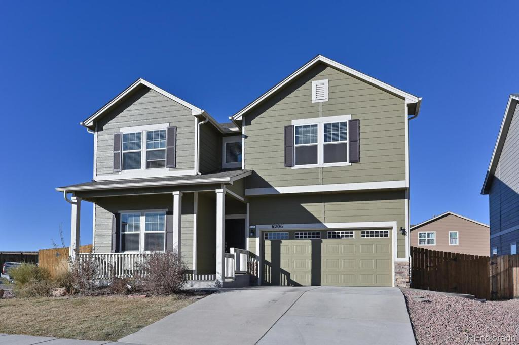 Photo of home for sale at 6206 Finglas Drive, Colorado Springs CO
