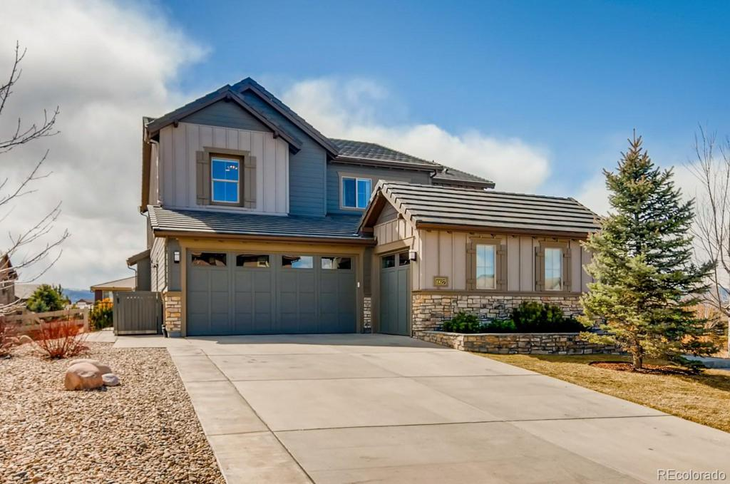 Photo of home for sale at 10627 Sundial Rim Road, Highlands Ranch CO