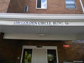 Property for sale at 1200 Golden Circle Bldg. 10 Circle Unit: 202, Golden,  Colorado 80401