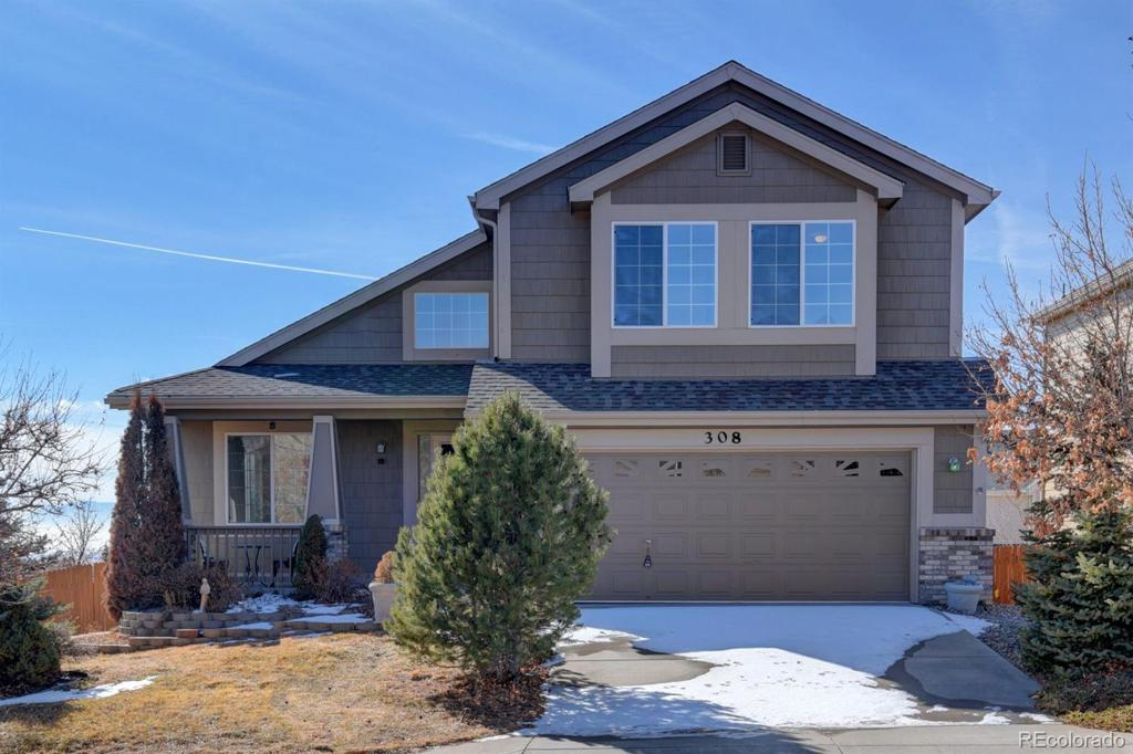 Photo of home for sale at 308 Fox Run Circle, Colorado Springs CO