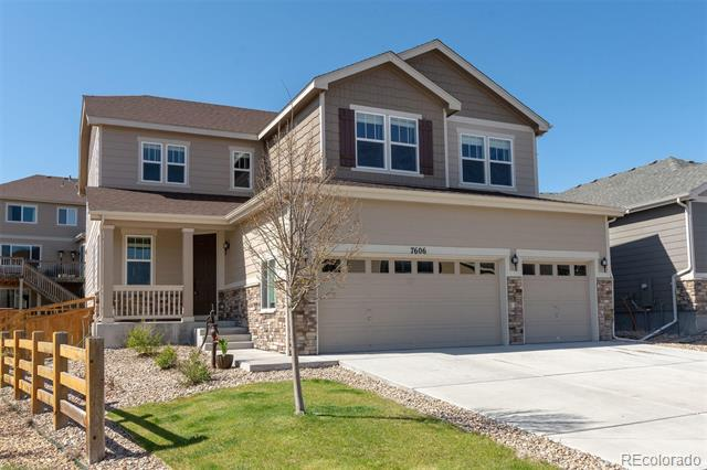 Photo of home for sale at 7606 Blue Water Lane, Castle Rock CO