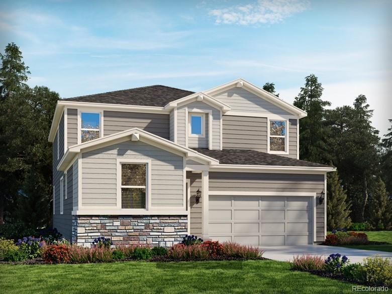 Photo of home for sale at 628 Silver Rock Trail, Castle Rock CO