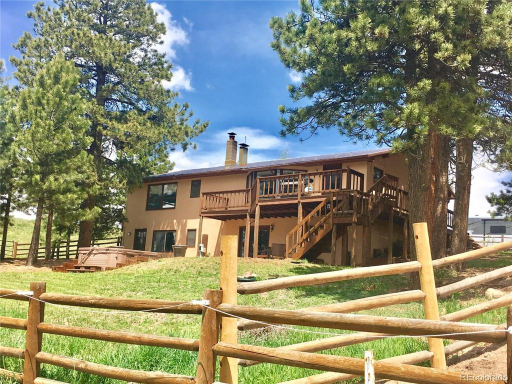 Photo of home for sale at 72 Broken Wagon Road, Woodland Park CO