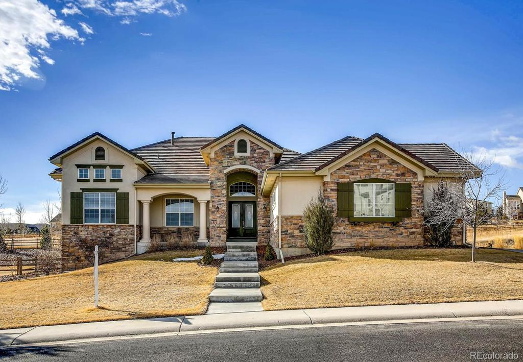 Photo of home for sale at 5750 Distant View Place, Parker CO