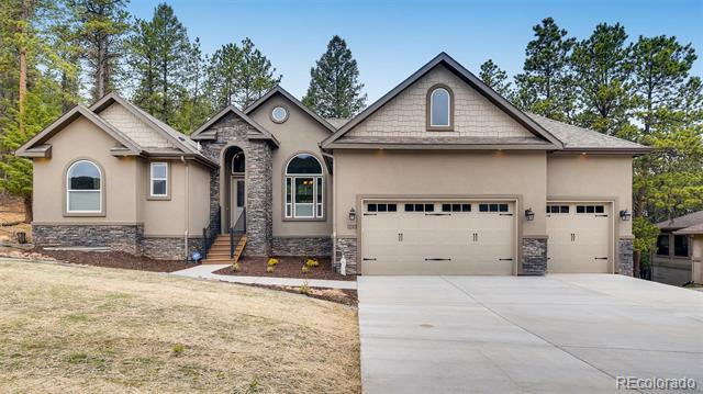 Photo of home for sale at 1210 Cottontail Trail, Woodland Park CO