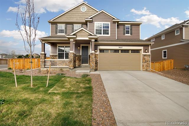 Photo of home for sale at 9657 Keystone Trail, Parker CO