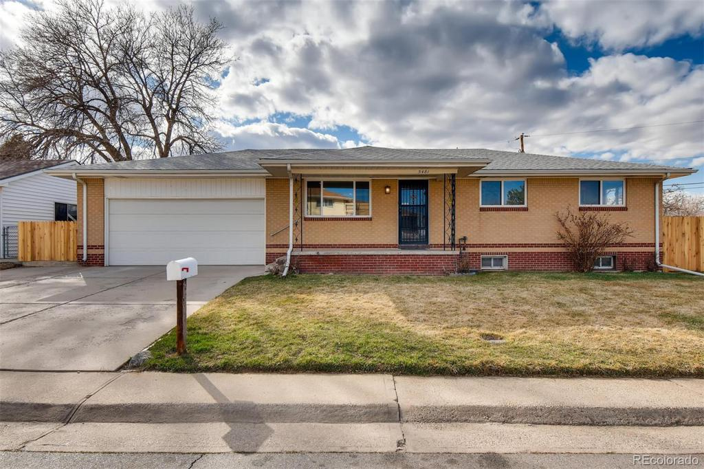 Photo of home for sale at 5481 Raritan Way, Denver CO