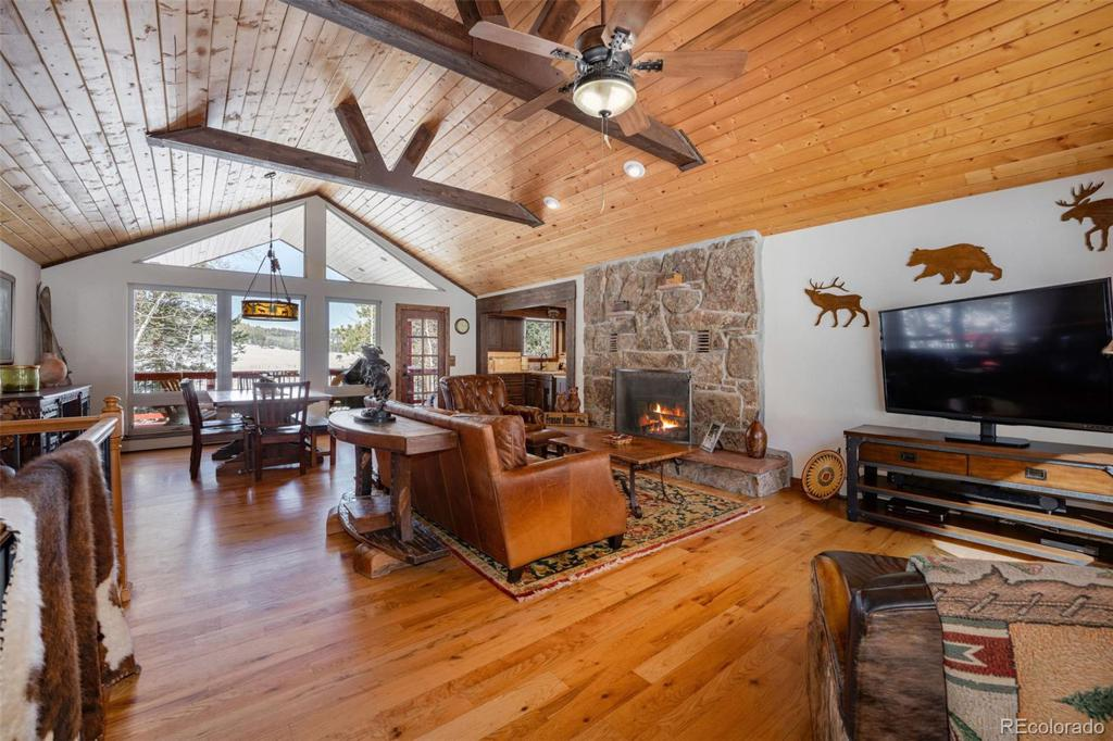 Photo of home for sale at 6361 Bluebell Lane, Evergreen CO