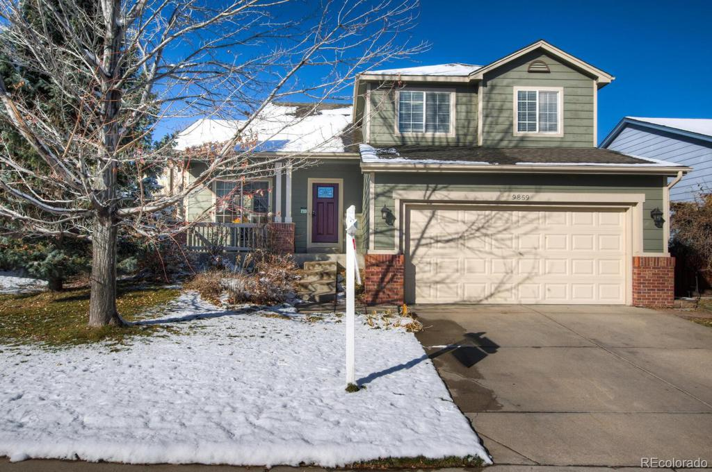 Photo of home for sale at 9859 Atherton Way, Highlands Ranch CO
