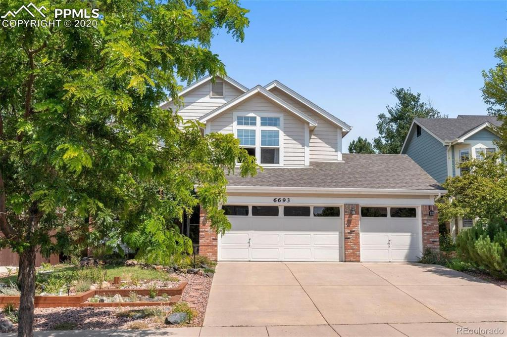Photo of home for sale at 6693 Oasis Butte Drive, Colorado Springs CO