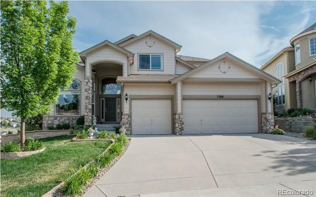 Photo of home for sale at 7244 Serena Drive, Castle Pines CO
