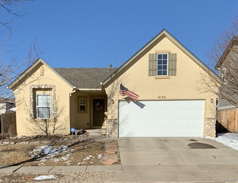 Photo of home for sale at 4150 Knollvale Drive, Colorado Springs CO