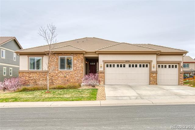 Photo of home for sale at 10785 Hillsboro Circle, Parker CO
