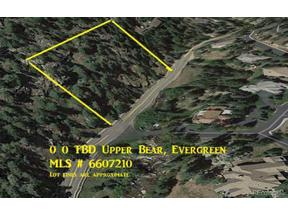 Property for sale at 0 TBD Upper Bear Creek Rd, Evergreen,  Colorado 80439