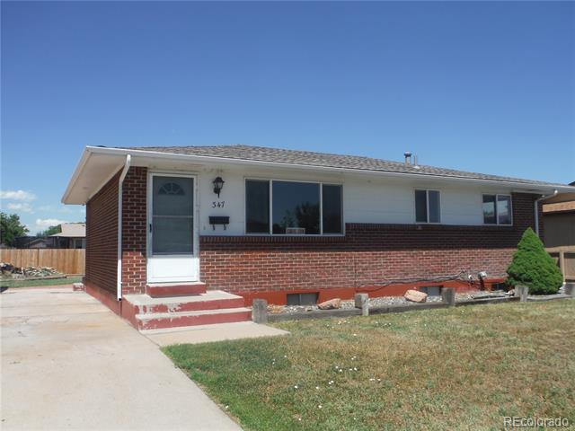 Photo of home for sale at 347 16th Avenue North, Brighton CO