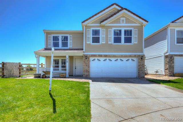 Photo of home for sale at 218 Zephyr Court, Lochbuie CO
