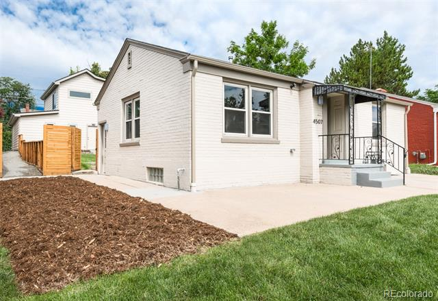 Photo of home for sale at 4507 Eliot Street, Denver CO