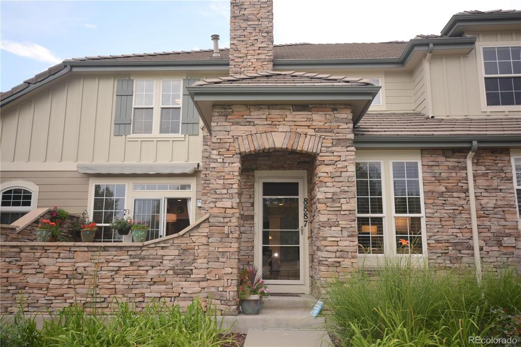 Photo of home for sale at 8887 Tappy Toorie Circle, Highlands Ranch CO