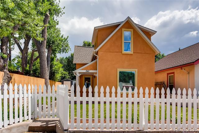 Photo of home for sale at 241 Franklin Street North, Colorado Springs CO