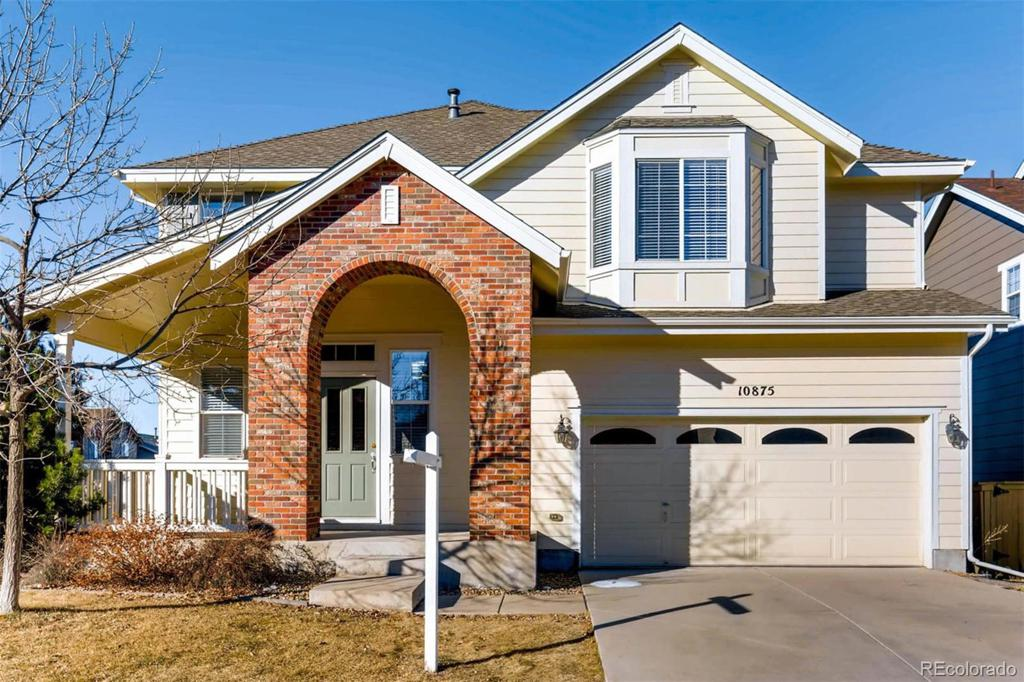 Photo of home for sale at 10875 Heatherton Street, Highlands Ranch CO