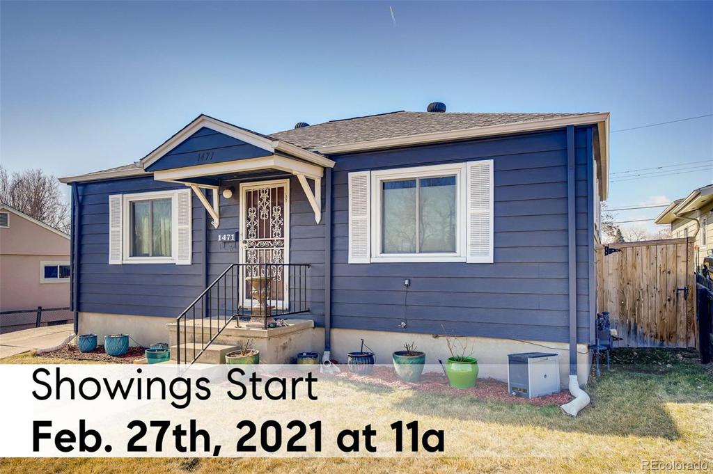Photo of home for sale at 1471 Beach Court S, Denver CO