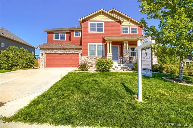 Photo of home for sale at 3277 Falling Star Place, Castle Rock CO