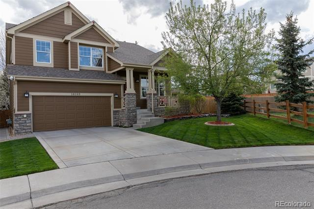 Photo of home for sale at 16103 Grebe Place, Parker CO