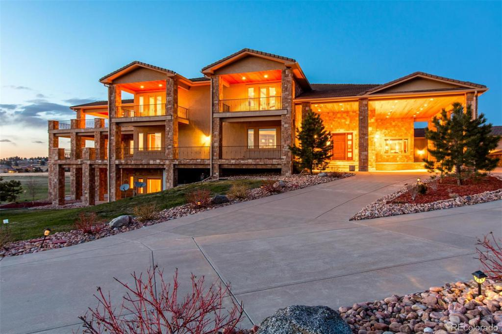 Photo of home for sale at 7375 Sagebrush Drive, Parker CO