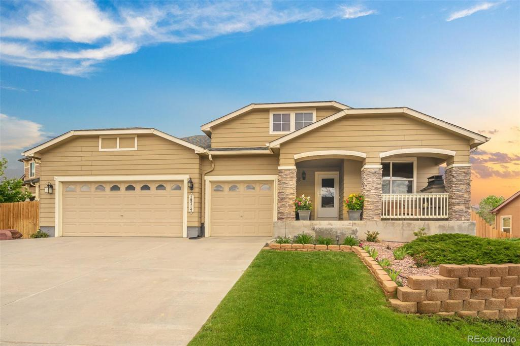Photo of home for sale at 14717 Allegiance Drive, Colorado Springs CO