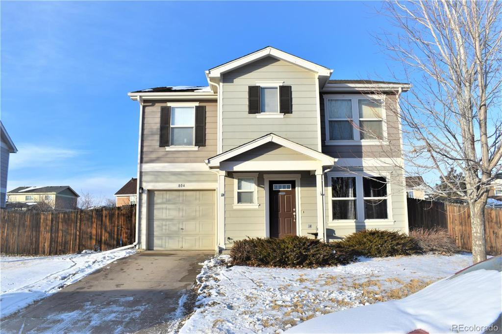 Photo of home for sale at 804 Willow Drive, Lochbuie CO