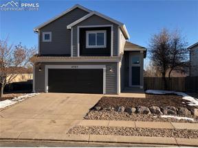 Property for sale at 4757 Sweetgrass Lane, Colorado Springs,  Colorado 80922