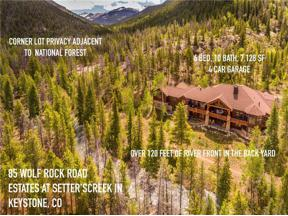Property for sale at 85 Wolf Rock Road, Keystone,  Colorado 80435