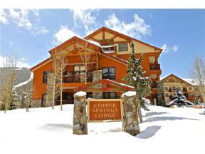 Property for sale at 105 Wheeler CIRCLE, Copper Mountain,  Colorado 80443