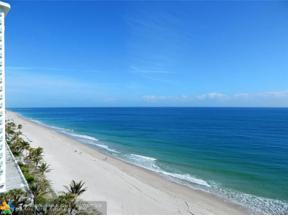 Property for sale at 3200 N Ocean Blvd Unit: 1009/05, Fort Lauderdale,  Florida 33308