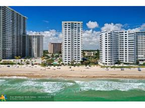 Property for sale at 3550 Galt Ocean Drive Unit: 807, Fort Lauderdale,  Florida 33308