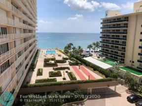 Property for sale at 4100 Galt Ocean Dr Unit: 602, Fort Lauderdale,  Florida 33308