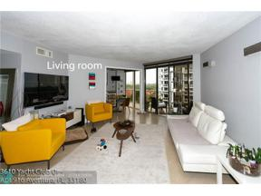 Property for sale at 3610 Yacht Club Dr Unit: 916, Aventura,  Florida 33180
