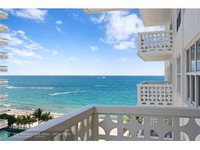 Property for sale at 4010 Galt Ocean Dr Unit: 701, Fort Lauderdale,  Florida 33308