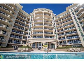 Property for sale at 1063 Hillsboro Mile Unit: 306, Hillsboro Beach,  Florida 33062