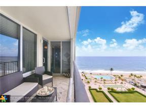 Property for sale at 4280 Galt Ocean Drive Unit: 10G, Fort Lauderdale,  Florida 33308