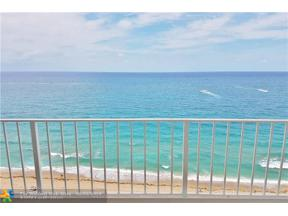 Property for sale at 1010 S Ocean Blvd Unit: 1601, Pompano Beach,  Florida 33062