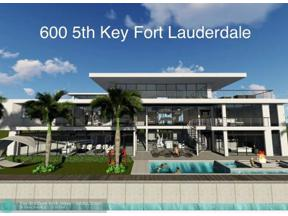 Property for sale at 600 5th Key Dr., Fort Lauderdale,  Florida 33304