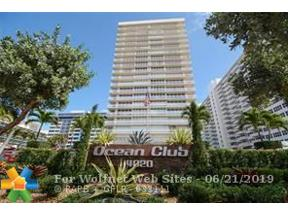 Property for sale at 4020 Galt Ocean Dr Unit: 610, Fort Lauderdale,  Florida 33308