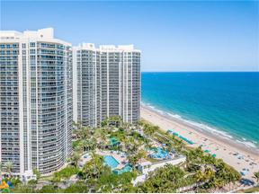 Property for sale at 3100 N Ocean Bl Unit: 1010, Fort Lauderdale,  Florida 33308