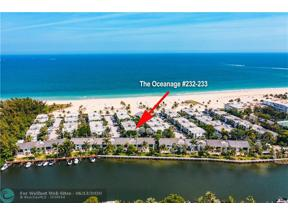 Property for sale at 1612 S Ocean Ln Unit: 232-233, Fort Lauderdale,  Florida 33316
